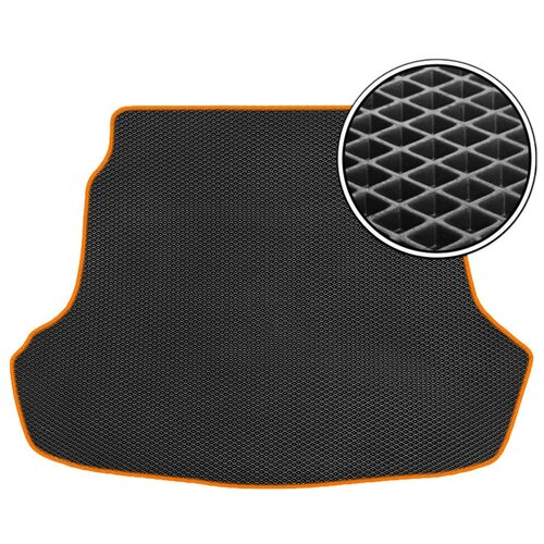 Автомобильный коврик в багажник ЕВА Opel Astra H 2004 - 2012 (багажник) (хетчбек) (оранжевый кант) ViceCar