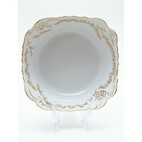 Салатник Cmielow Rococo 7830 Anna рисунок золотом 14 см. тарелка cmielow rococo плоская 25см фарфор 0031190 rococo