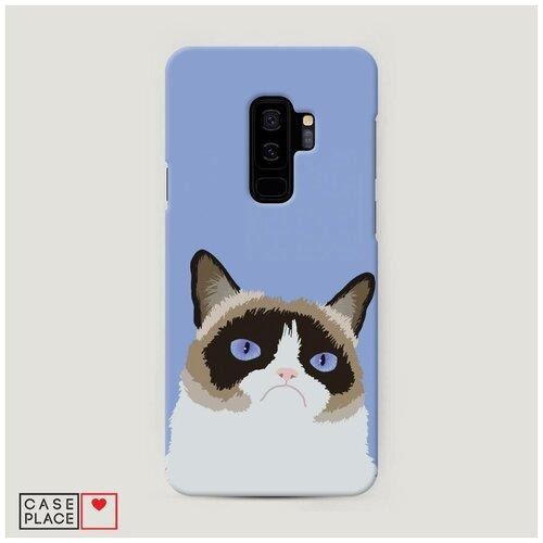 Чехол Пластиковый Samsung Galaxy S9 Plus Мем грустный кот
