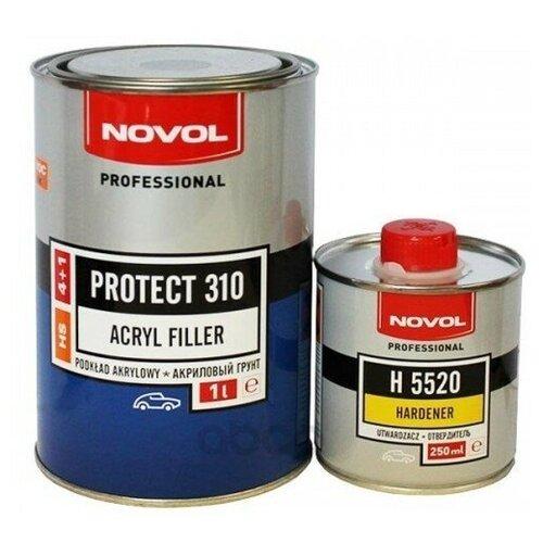 Грунт Акриловый 4+1hs Черный Novol Protect310, 1,0+0,25 Novol арт. 37141 - 35822