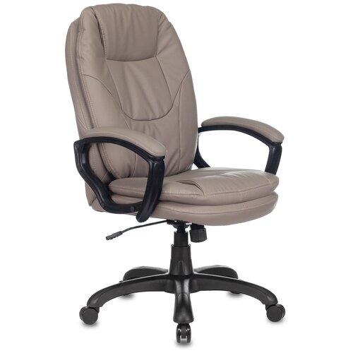 Фото - Кресло руководителя Бюрократ CH-868N серый искусственная кожа крестовина пластик кресло бюрократ ch 605 черное искусственная кожа крестовина металл