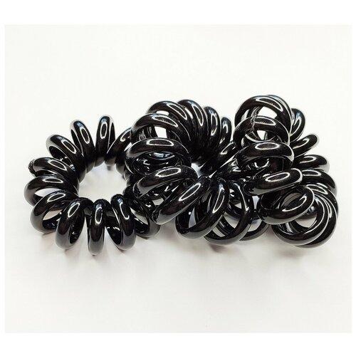 Комплект резинок для волос 5 штук, пружинки черные крупные