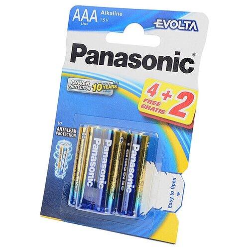 Panasonic Батарейка Panasonic EVOLTA LR03EGE/6BP, 6шт