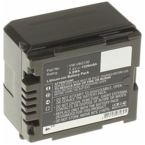 Фото - Аккумулятор iBatt iB-B1-F320 1320mAh для Panasonic VW-VBG6, VW-VBG260, VW-VBG070A, VW-VBG130, VW-VBG070, VW-VBG260E-K, VW-VBG260-K, VW-VBG130E-K, аккумулятор ibatt ib b1 f457 3400mah для panasonic vw vbt190 vw vbt380 vw vby100 vw vbt380e k