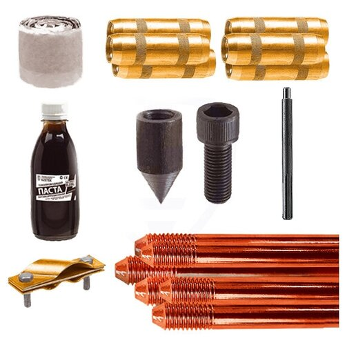 Комплект заземления Ezetek EZ-9 14mm x 1.5m 60262 комплект заземления ezetek ez 6 16mm x 1 2m 60272
