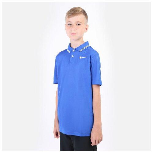 Фото - Поло NIKE размер M(137-147), синий nike толстовка для мальчиков nike sportswear размер 137 147