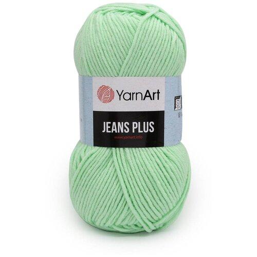 Пряжа YarnArt 'Jeans Plus' 100гр 160м (55% хлопок, 45% полиакрил) (79 мятный) 5 шт пряжа yarnart пряжа yarnart jeans plus цвет 53 черный