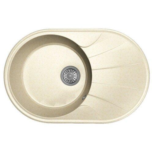 Мойка для кухни Dr. Gans Smart, Виола-740, латте, камень, врезная, овальная (46636)