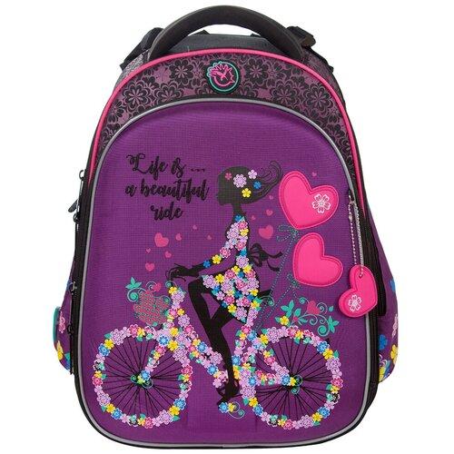 Купить Ранец Hummingbird 102T (Pur) Девочка на велосипеде 39*28*24см, Рюкзаки, ранцы