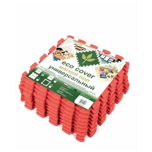 Мягкий пол универсальный Красный 33*33 см, 9 деталей мягкий пол eco cover универсальный 30х30 см сад огород 9 деталей