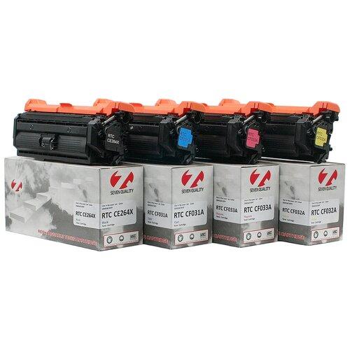 Фото - Тонер-картридж 7Q CF031A для HP Color LJ CM4540 (Голубой, 12500 стр.), ref. картридж hp cf031a для hp cm4540 голубой