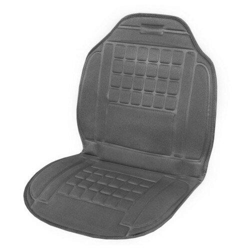 Подогрев сиденья со спинкой SKYWAY с терморегулятором (2 режима) 98х52см 12V Серый 2,5А-3А