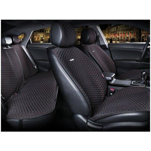 Комплект накидок на автомобильные сиденья CarFashion PALERMO PLUS черный/оранжевый