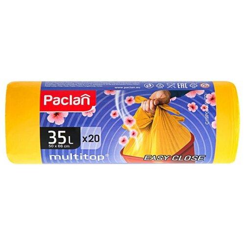 Фото - Paclan Multitop Aroma Мешки для мусора ПНД желтый 35 л. 20 шт. в рулоне мешки для мусора ароматизированные 35 л ушки желтые 20 шт пвд 66х50 см paclan multitop aroma 136881