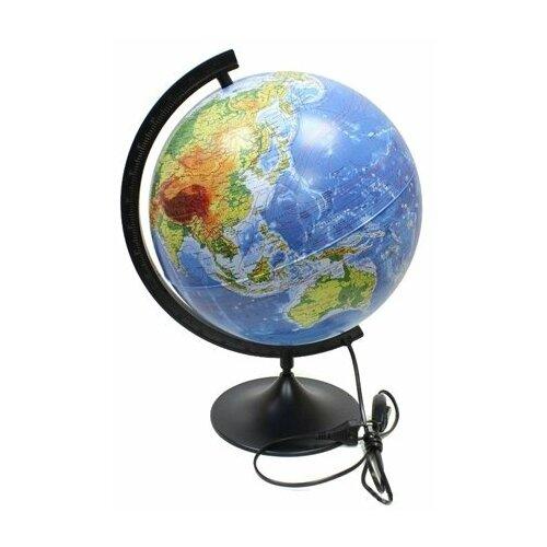 Globen Глобус Земли физико-политический с подсветкой рельефный 320 мм