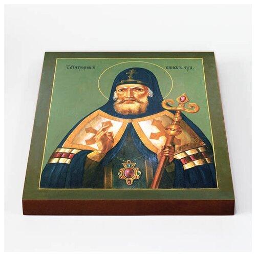 Святитель Митрофан, епископ Воронежский, печать на доске 20*25 см