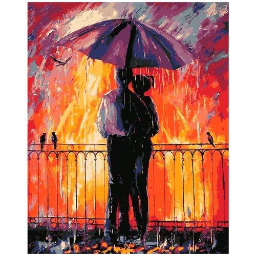 набор для рисования по номерам цветной элегантность в белом марка спейна 40 x 50 см HS1173 Набор для рисования по номерам 'Цветной дождь' 40*50см