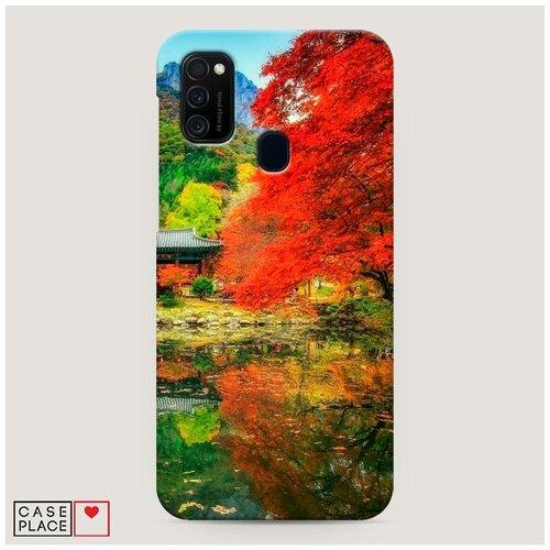 Чехол Пластиковый Samsung Galaxy M21 Осенний сад