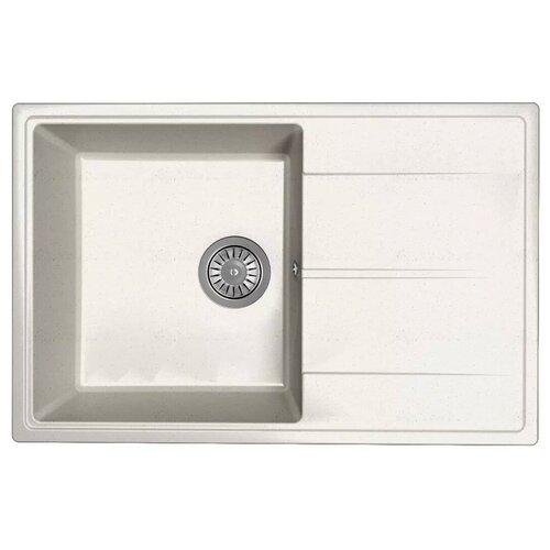 Мойка для кухни Dr. Gans Smart, Оливия-740, белый, камень, врезная, прямоугольная (46618)