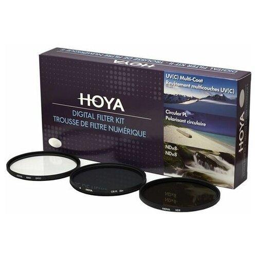 Фото - Комплект светофильтров HOYA: UV (C) HMC MULTI, PL-CIR, NDX8 - 82mm светофильтр hoya pl cir uv hrt 82mm