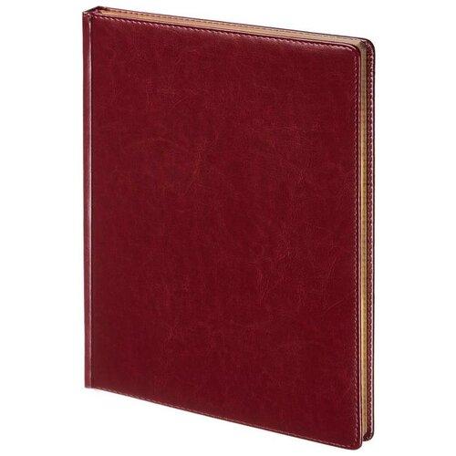 Купить Ежедневник недатированный Attache Sidney Nebraska искусственная кожа А4 136 листов бордовый (золотистый обрез, 210x300 мм) 1 шт., Ежедневники
