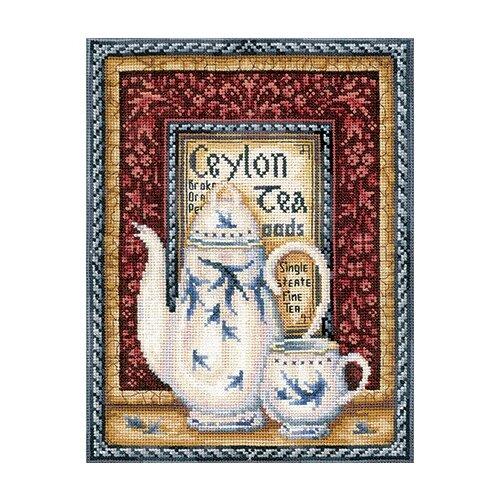 Набор для вышивания Сделай своими руками ССР.К-40 Коллекция чая.Оранж Пеко 20х26,5 см