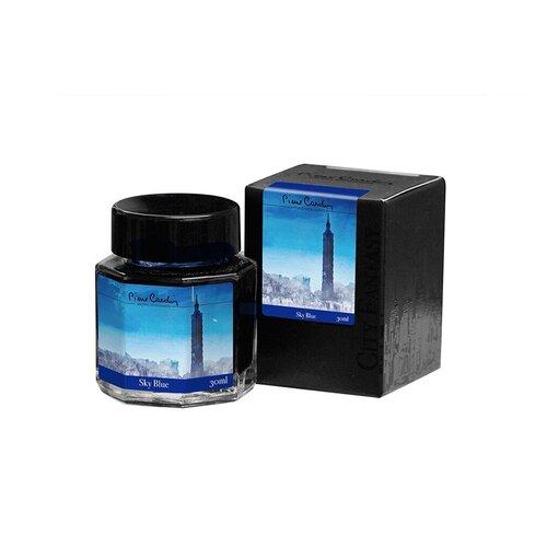 Флакон чернил Pierre Cardin 30мл, серия CITY FANTASY цвет Sky Blue (Синий Небесный)