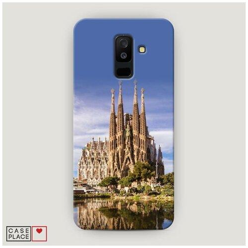 Чехол Пластиковый Samsung Galaxy A6 Plus Храм святого семейства в Барселоне 1