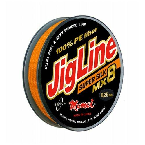 Плетеный шнур Jigline MX8 Super Silk 100 м, 0,16 мм