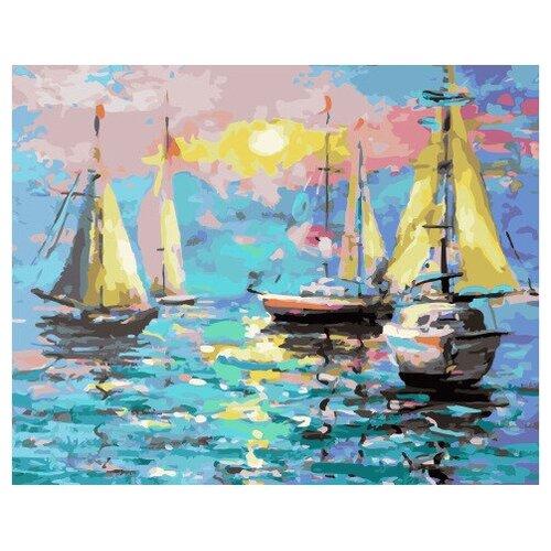 Картина по номерам GX 32187 Парусные яхты 40*50