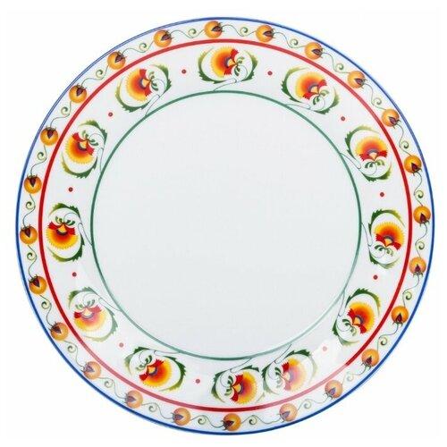 Тарелка обеденная Dasen Арабески 23 см салатник dasen бежевая классика диаметр 14 см