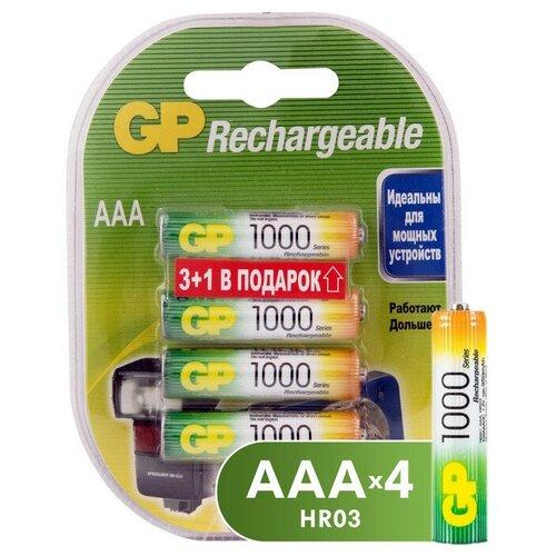 Аккумулятор GP 1000mAh AAA/HR03 NiMh бл/4шт аккумулятор gp 1000mah аaa hr03 nimh бл 2шт