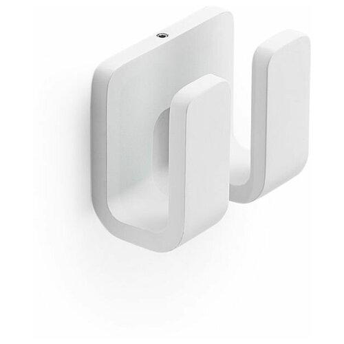 Крючок Gedy Outline двойной, белый матовый
