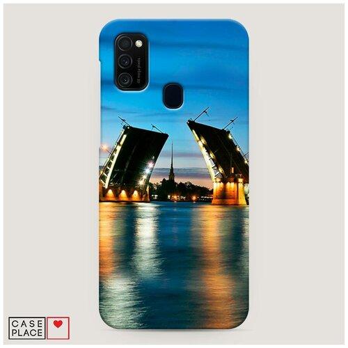 Чехол Пластиковый Samsung Galaxy M30s Разведенные мосты в СПб 2