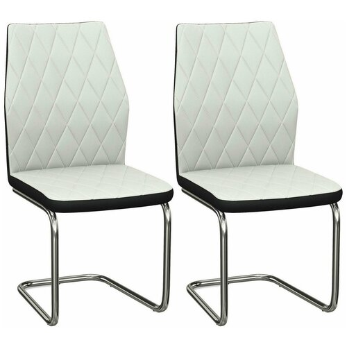 Комплект стульев Аврора Шато 2 нитро вайт / нитро блек, 2шт