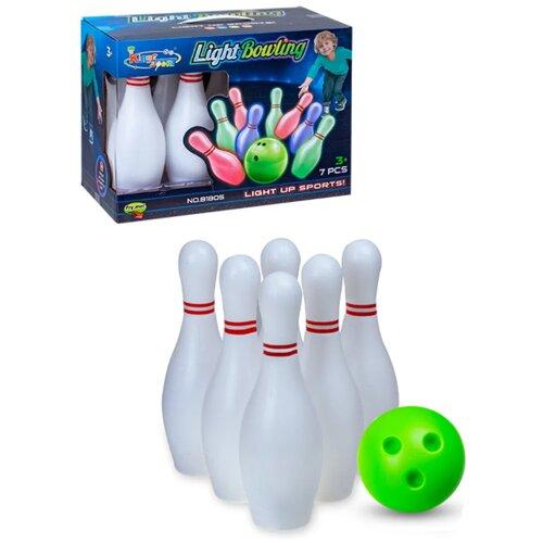 Набор Боулинг / Набор кегли с подсветкой с мячом / Боулинг для игр на улице и дома bt-bowling-light-LM01