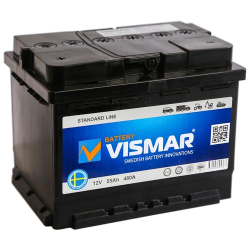 Автомобильный аккумулятор VISMAR ST 6СТ-55 N (R)-(0) 480А 242*175*190