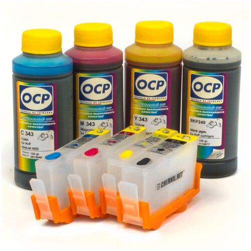 Фото - Набор перезаправляемых картриджей и чернила OCP для HP Deskjet Ink Advantage 3525, 3520, 4615, 4625, 5525, 6525, 3625 чернила hp 655 hp655 для hp deskjet 3525 5525 6525 4615 4625 набор 9 предметов инструкция совместимые