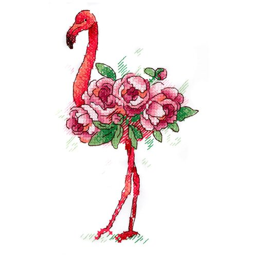 Купить Набор для вышивания М.П.Студия В №02 вышивка на одежде №254 Фламинго 9 х 15 см 1 шт., Жар-птица, Наборы для вышивания