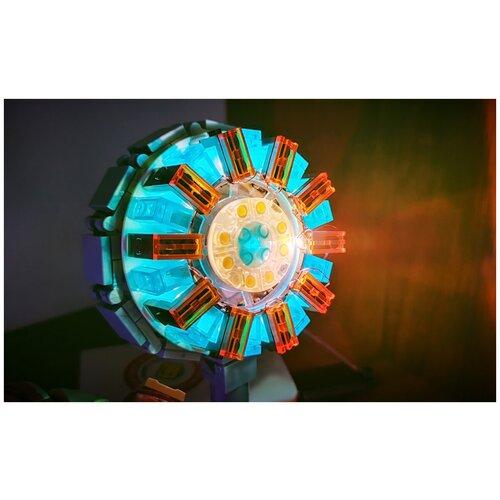 Конструктор SY 1482 Светящийся реактор Железного человека, из серии Персонажи, Супер герои