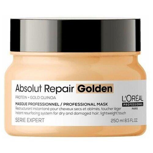Маска L`oreal Professionnel Serie Expert Absolut Repair Masque gold 250 мл с золотой текстурой для восстановления поврежденных волос l oreal professionnel liss unlimited маска разглаживающая для непослушных волос 250 мл