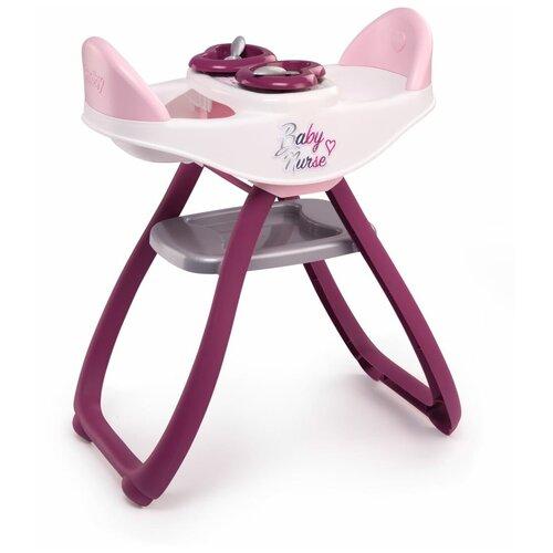 Стульчик для кормления двойняшек Baby Nurse, Smoby (игровой набор, 4 аксессуара, 220344)