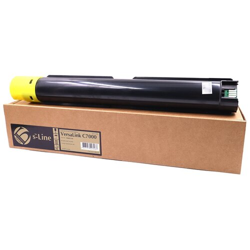 Фото - Тонер-картридж булат s-Line 106R03766 для Xerox VersaLink C7000 (Жёлтый, 10100 стр.) тонер с девелопером булат s line versalink c7000 m для xerox versalink c7000 банка пурпурный банка 160г