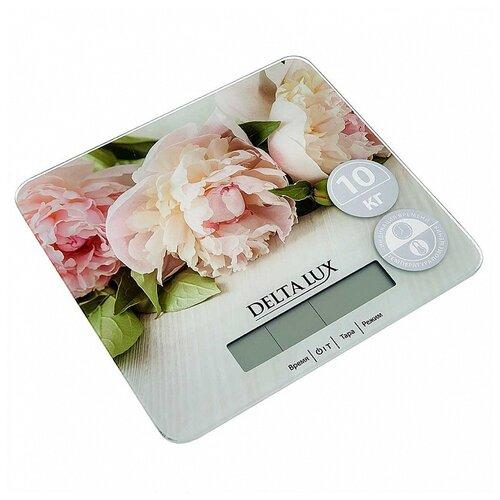 Кухонные весы DELTA LUX DE-006KE цветы