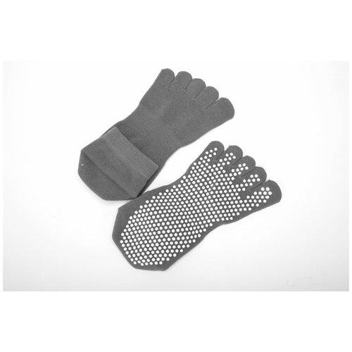 Носки противоскользящие для занятий йогой закрытые, Bradex (Товары для спорта и отдыха, серый, SF 0351, размер 35-41)