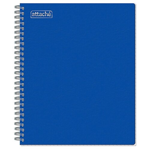 Тетрадь общая A5 на спирали в клетку Attache, 80 листов (синяя) тетрадь общая attache lines waves а5 96 листов в клетку на спирали 4 шт