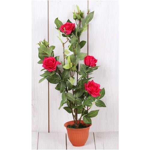Искусственные цветы розы в горшке/ Искусственные цветы для декора/ искусственные цветы для декора в горшках/ искусственные цветы для декора в кашпо/ Искусственные растения/ искусственные цветы в кашпо