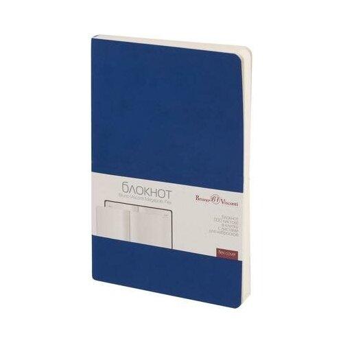 Купить Блокнот Bruno Visconti Megapolis Flex A5 100 листов синий без линовки на сшивке (140х210 мм) (артикул производителя 3-526/01) 1 шт., Ежедневники