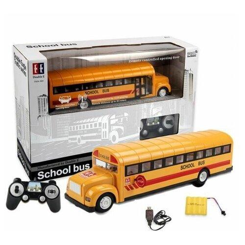 Фото - Радиоуправляемый школьный автобус Qunxing Double Eagles 2.4G - E626-003 автобус double eagle school bus e626 003 1 18 33 см желтый