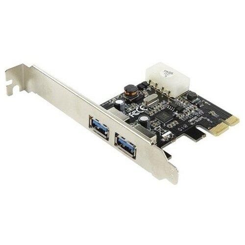 Контроллер USB3.0 Orient VL-3U2PE PCI-Express на 2 USB Af внешних VIA VL806 плюс разъём доп-питания